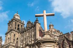 metropolitan cathedral of the assumption of mary of mexico city - stock photo