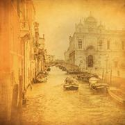 Vintage image of venice canals Piirros