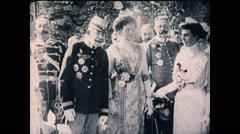 WW1 Austria Kaiser Franz Stock Footage