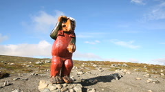 Troll watching in Norway Stock Footage