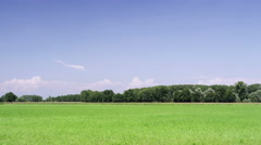 Blue clear sky with italian planar green landscape time lapse 4K Stock Footage