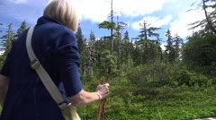 Hiking  Alaska, Tongass National Forest Stock Footage