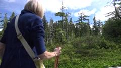 Hiking  Alaska, Tongass National Forest Stock Footage