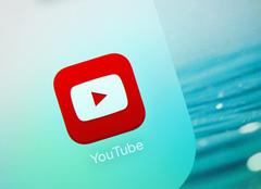 Youtube icon on an Apple iPad display - stock photo