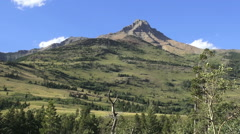 Canadian Rockies north of Waterton Lakes NP Stock Footage