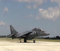 Harrier Jump Jet Stock Footage