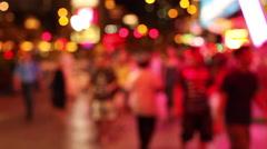 LAS VEGAS - BLURRED FLASHING LIGHTS AND PEOPLE Stock Footage