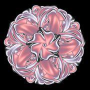 Satin ribbon knot mandala Stock Illustration