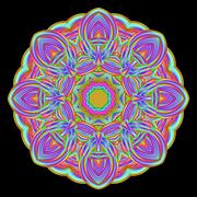 Flame mandala Stock Illustration