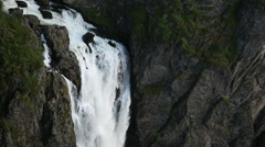 Voringsfoss Waterfall Western Norway Stock Footage