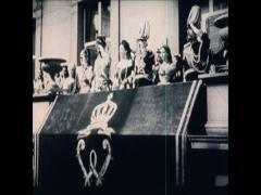 WW1 German Kaiser WilhelmII Kavallery Corp At Parade Stock Footage