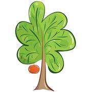 fruit tree - stock illustration