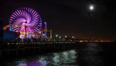 Santa Monica Pier-TimeLapse-1080p Stock Footage