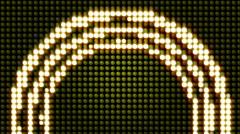 White arc Glowlights Stock Footage