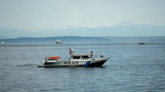 Police boat 01 Stock Footage