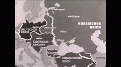 WW1 Map Annimation 1918 German East Offensive Stock Footage