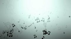 Music Notes Loop Ver-01 Stock Footage