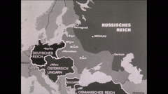 WW1 Map Annimation East Front Stock Footage
