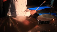 Practicing drums Stock Footage