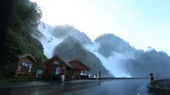 Spectacular Latefossen Waterfall Odda Norway Stock Footage