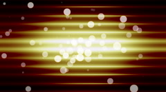 yellow lightes  with circles - stock footage