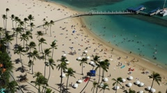 Waikiki beach, honolulu, oahu, hawaii Stock Footage