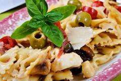 cold pasta salad - stock photo