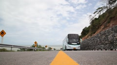 Tourist Vehicles on Road Stock Footage