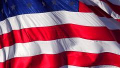 4K USA Flag Close Up - stock footage