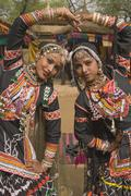 Rajasthani Tribal Dancers - stock photo