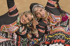 Tribal Dancers of India Stock Photos