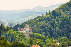 Medieval castle of bran also known for the myth of dracula. Stock Photos