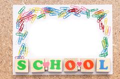 School frame - stock photo