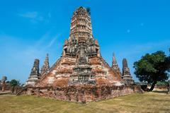 wat chaiwatthanaram, ayuthaya province, thailand - stock photo