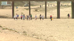 Beach Cleanup 05 Stock Footage
