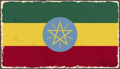 Ethiopia grunge flag. Vector illustration Stock Illustration