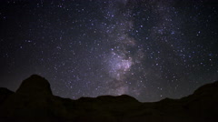 4K Milky Way Galaxy 52 R Timelapse Mojave Desert Red Rock Canyon Stock Footage