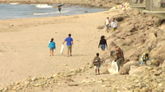 Beach Cleanup 04 Stock Footage