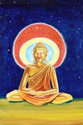 Golden buddha illustration Stock Illustration