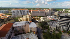 Aerial Coral Gables buildings 2 Stock Footage