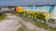 Aerial footage Miami Childrens Museum Stock Footage