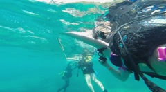 Diver descends into the water, Antalya, Turkey 2 Stock Footage