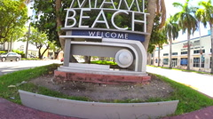 Welcome to Miami - stock footage