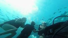 Tourists go diving, Antalya, Turkey 5 Stock Footage