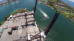 Aerial Port of Miami Fisher Island 2 Stock Footage
