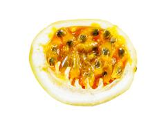 Open passion fruit isolated Stock Photos