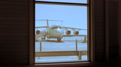 Aviation background. airport airplane. travel traveling. transportation Stock Footage