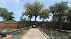 Louisiana Fort Jackson entry c Stock Footage