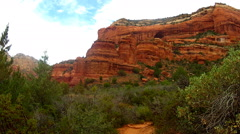 Red Rock Butte In Boynton Canyon- Sedona Arizona Stock Footage
