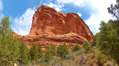 Red Rock Mountain Rising Over Boynton Canyon- Sedona AZ Stock Footage